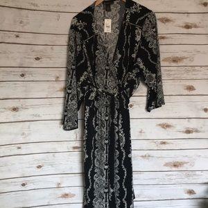 Lane Bryant • paisley V-neck wrap dress NWT